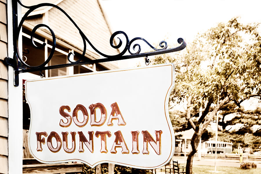 Sign Photograph - Soda Fountain Sign by Jo Ann Snover