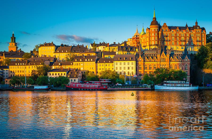 Europe Photograph - Sodermalm Skyline by Inge Johnsson