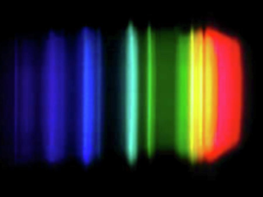 Emission Spectrum Photograph - Sodium Emission Spectrum by Carlos Clarivan