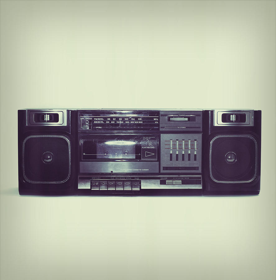 Soft Black Boombox Centered With White Photograph by Sjharmon