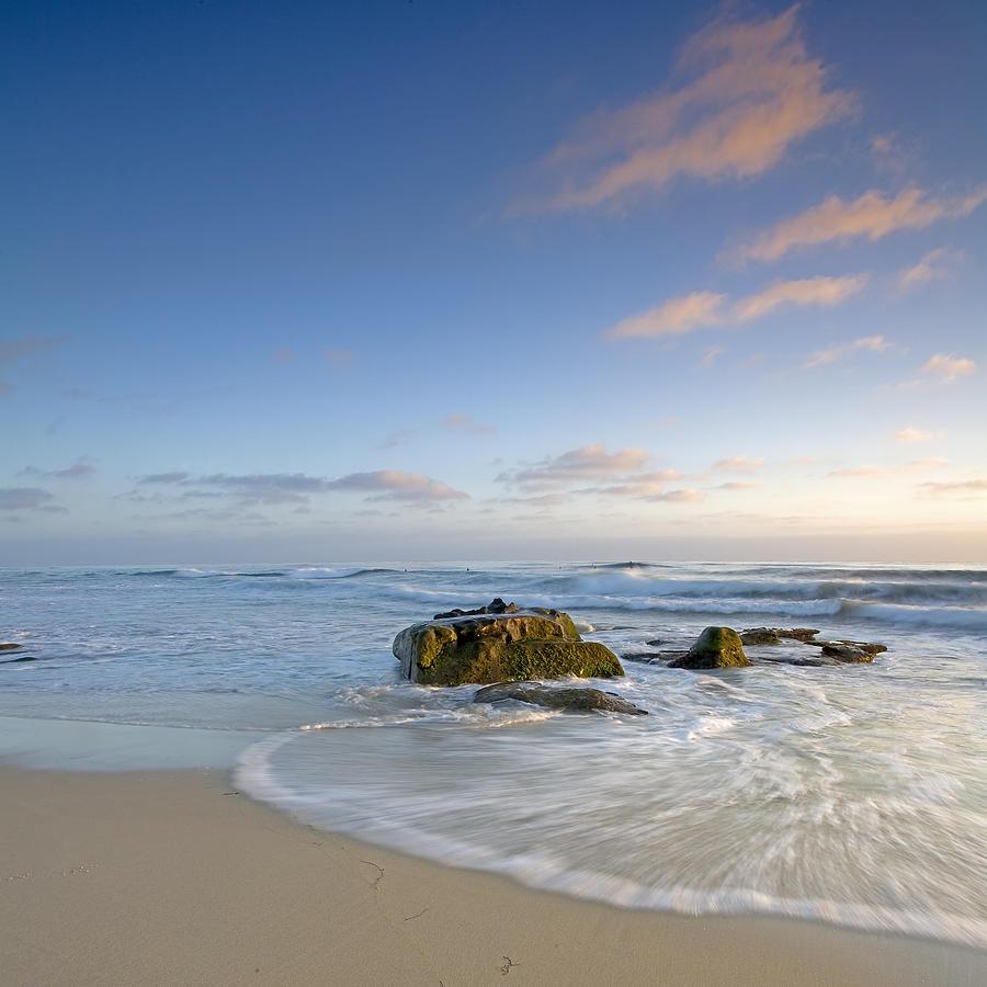 La Jolla Photograph - Soft Blue Skies by Peter Tellone
