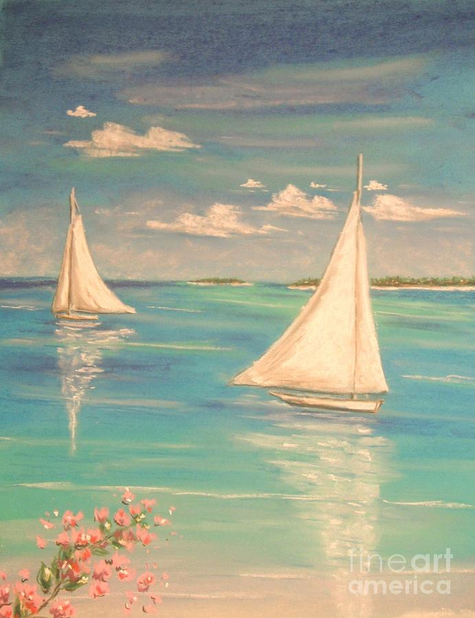 Tropical Painting - Soft Breeze by The Beach  Dreamer