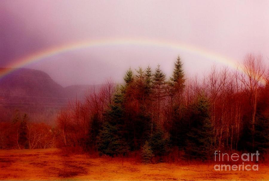 Rainbows Painting - Soft Cape Breton Rainbow by John Malone
