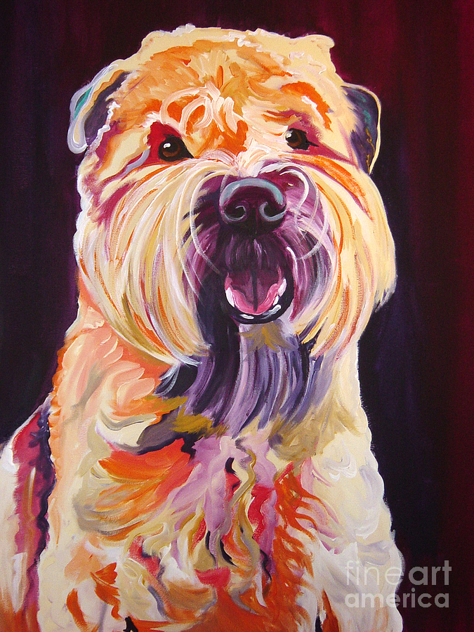 Wheaten Painting - Soft Coated Wheaten Terrier - Bailey by Alicia VanNoy Call