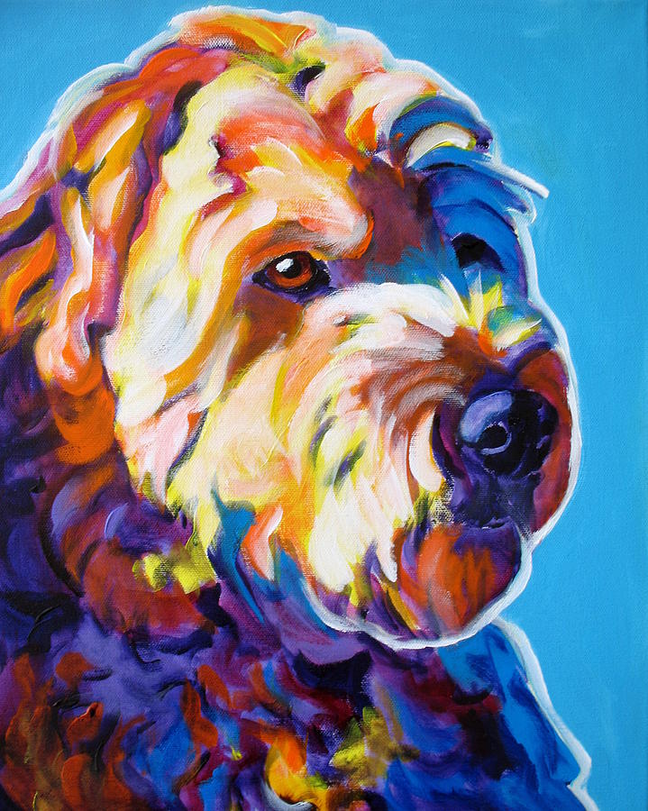 Dog Painting - Soft Coated Wheaten Terrier - Max by Alicia VanNoy Call