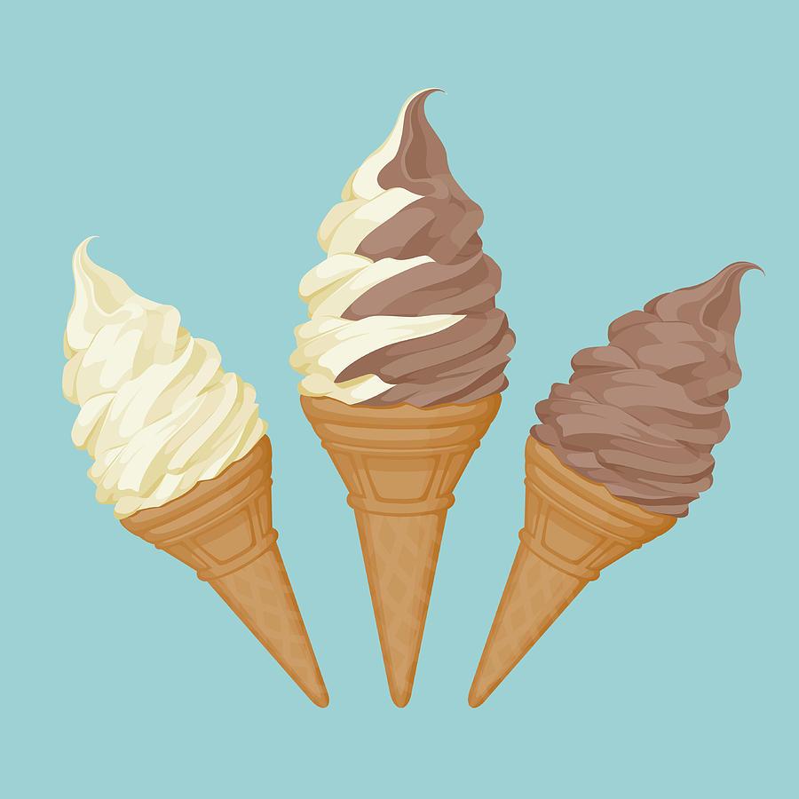 Soft Ice Cream Cone Digital Art by Saemilee