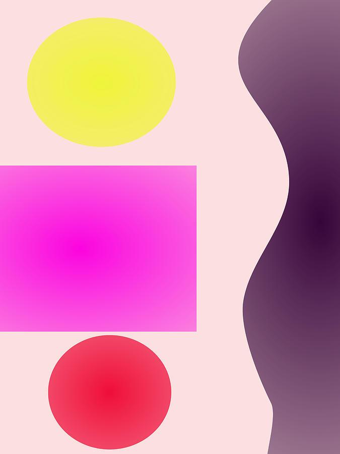 Gradation Digital Art - Soft Minimalism by Masaaki Kimura