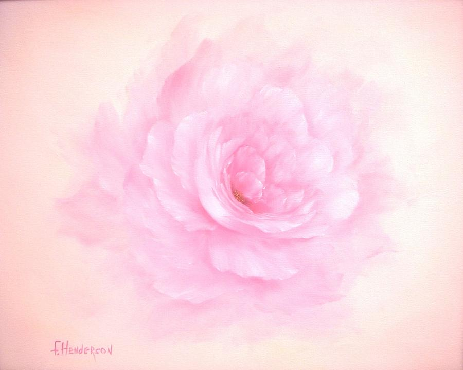 Rose Painting - Soft Pink Rose by Francine Henderson