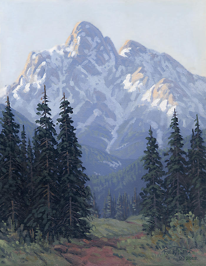 Mountain Painting - Soft Shades Of Spring by Randy Follis