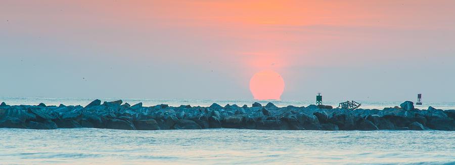 Birds Photograph - Soft Sunrise At Jetty Park by Cliff C Morris Jr