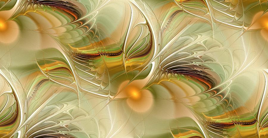 Illuminated Digital Art - Soft Wings by Anastasiya Malakhova