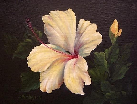 Flower Painting - Soft Yellow Hibiscus by Francine Henderson