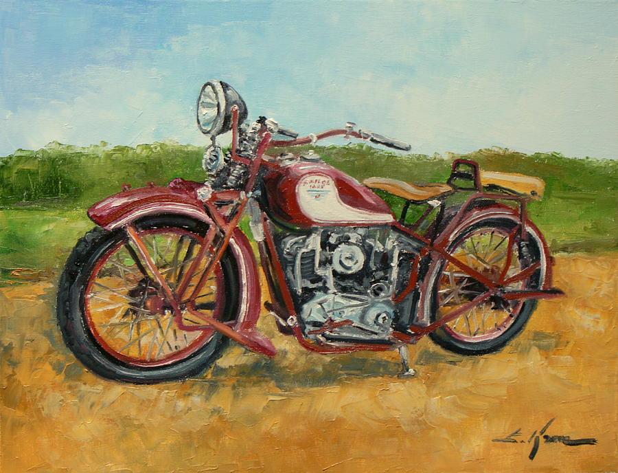 Motorcycle Canvas Wall Art