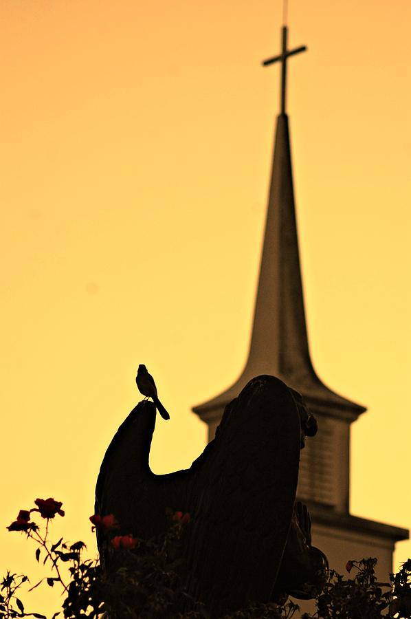 Steeple Photograph - Solace by Beverly Hammond