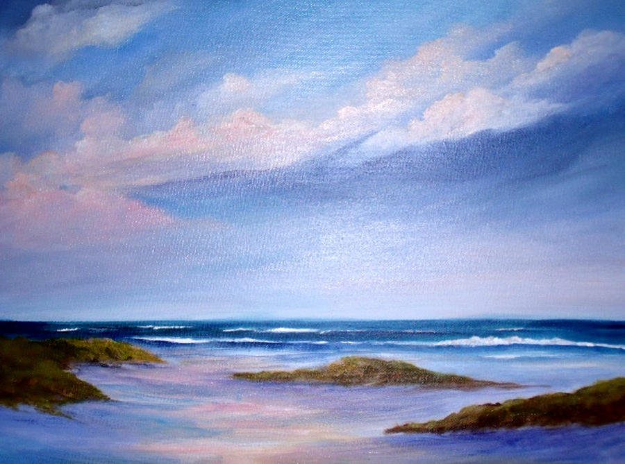 Beach Painting - Solace by Rosie Brown
