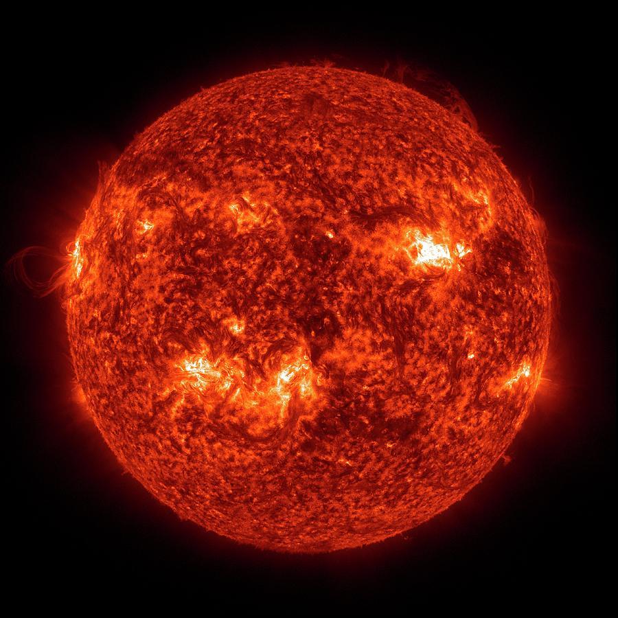 Sun Photograph - Solar Activity by Nasa/gsfc-svs/sdo Science Team/virtual Solar Observatory