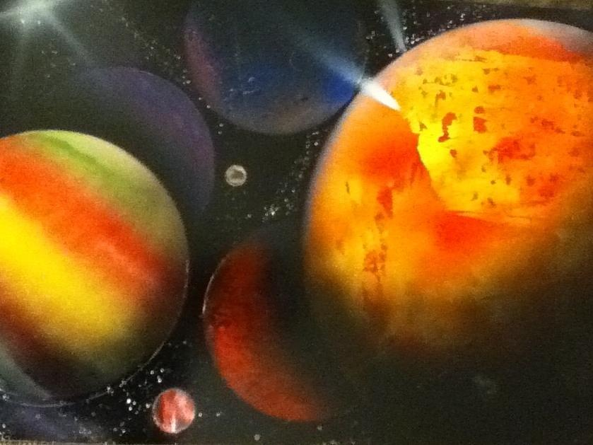 Planets Painting - Solar by Angel Griffin