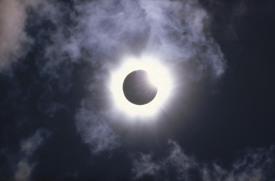 Cloud Photograph - Solar Eclipse August 11 1999 by Konrad Wothe