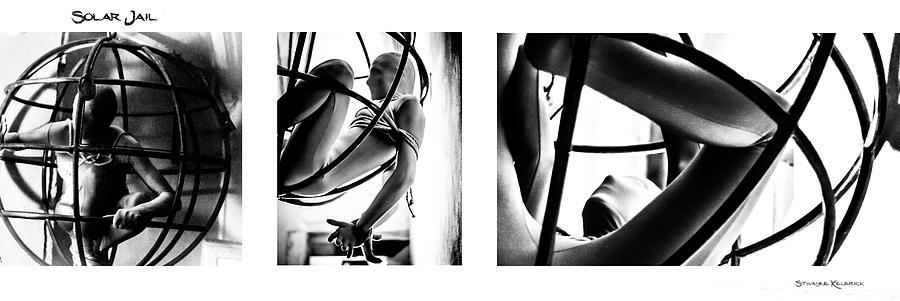 Black And White Photograph - Solar Jail Triptych by Stwayne Keubrick