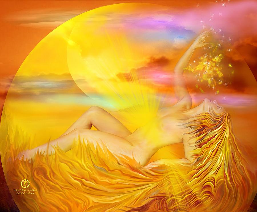 Solar Plexus Mixed Media - Solar Plexus Goddess by Carol Cavalaris