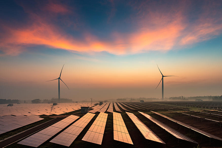 Solar power plant Photograph by Yangphoto