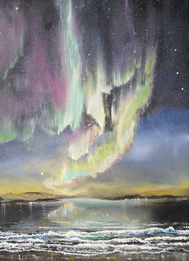 Aurora Borealis Painting - Solar Powered. by Joe Trodden