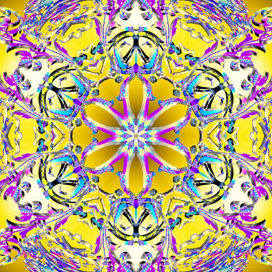 Sacredlife Mandalas Digital Art - Solar Sunstar by Derek Gedney