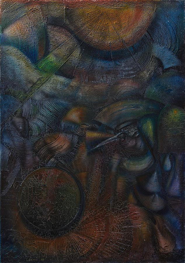 Abstract Painting - Solar System by Fernando Alvarez