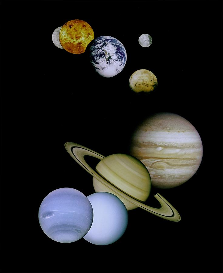 Mariner Photograph - Solar System Montage by Movie Poster Prints