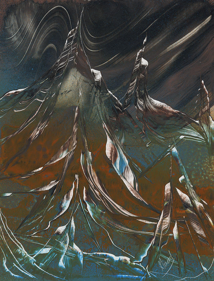 Space Scape Painting - Solar Winds by Jason Girard