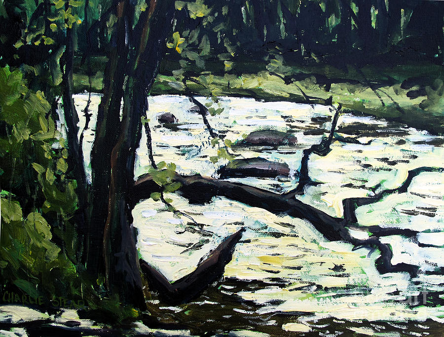 Acrylic Painting Painting - Sold Eel River From The Sandbar by Charlie Spear