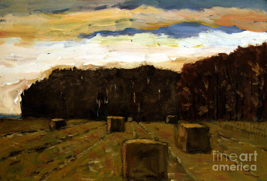 Landscape Painting - Sold Row By Row by Charlie Spear