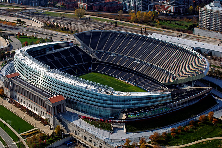 Soldier Field Photograph - Soldier Field Chicago Sports 06 by Thomas Woolworth