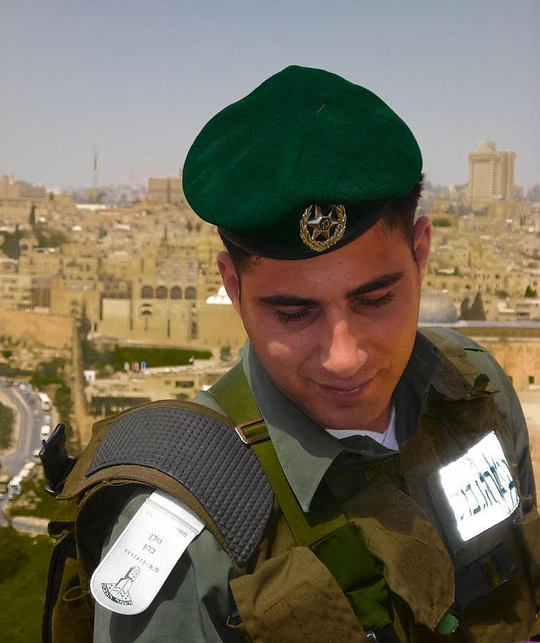 Israel Photograph - Soldier Of The Golden City by Sandra Pena de Ortiz