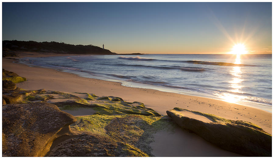 Sun Photograph - Soldiers Beach by Steve Caldwell