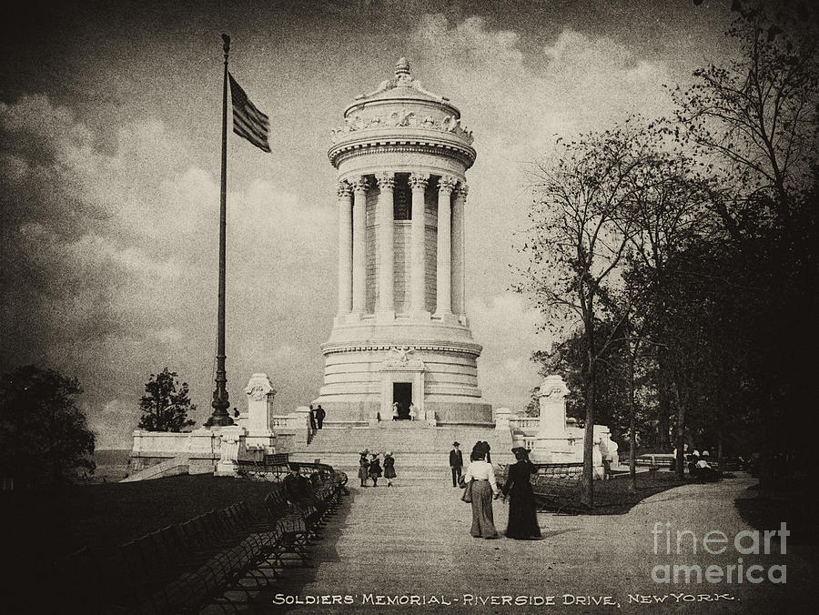 Soldiers Memorial Photograph - Soldiers Memorial - Ny - Toned by Paul W Faust -  Impressions of Light