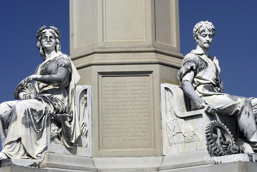 Gettysburg Battlefield Photograph - Soldiers Monument Detail by Paul W Faust -  Impressions of Light