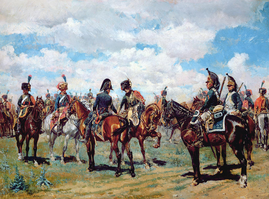 Soldier Painting - Soldiers On Horseback by Jean-Louis Ernest Meissonier