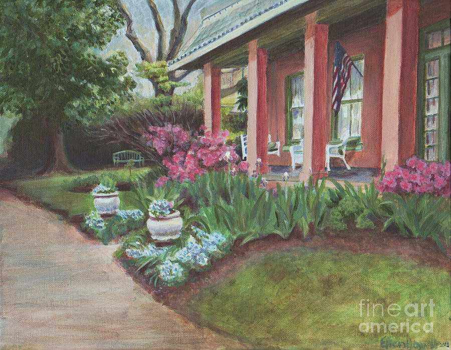 Natchitoches Painting - Soldini House by Ellen Howell