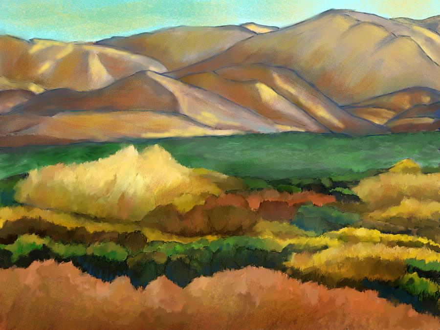 Soledad Canyon Mixed Media - Soledad Canyon Sunset by Karen Sperling