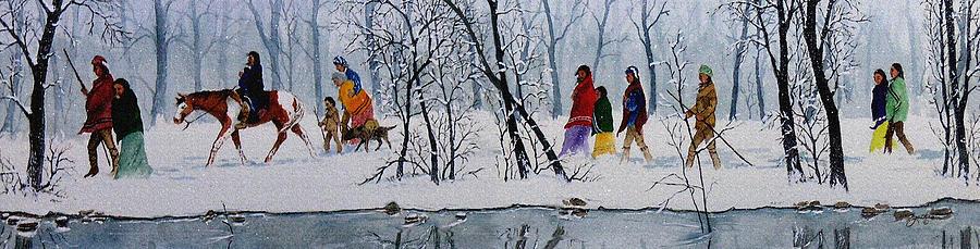 Cherokee Mixed Media - Solemn Tears by John Guthrie