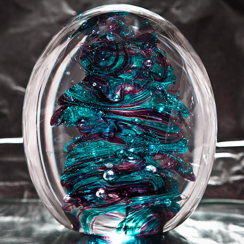 Glass Sculpture - Solid Glass Sculpture Rb3 by David Patterson