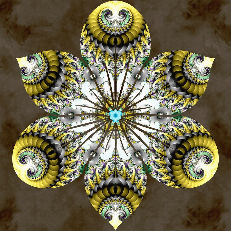 Sacredlife Mandalas Digital Art - Solitary Bird Of Prey by Derek Gedney