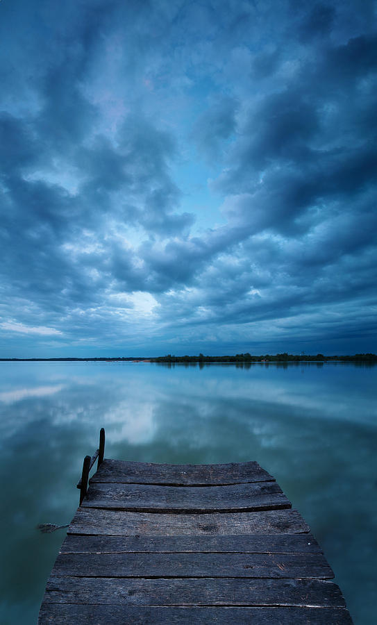 Landscapes Photograph - Solitary Pier by Davorin Mance