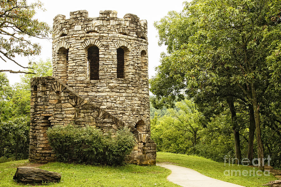 Stone Photograph - Solitary Stone Tower by Lincoln Rogers