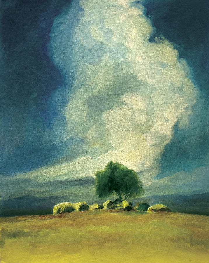 Storm Clouds Painting - Solitude by Anthony Enyedy