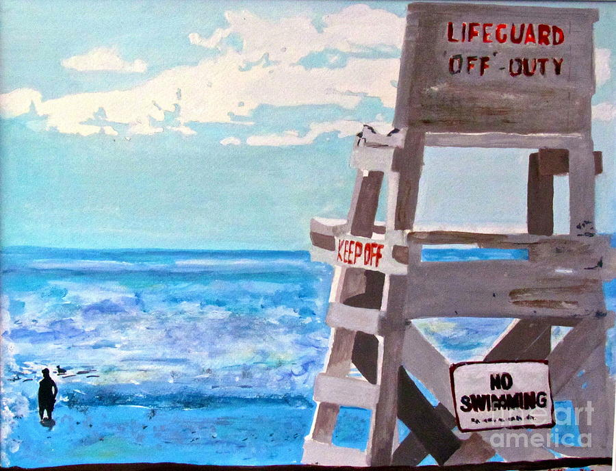Lifeguard Painting - Solitude by Beth Saffer
