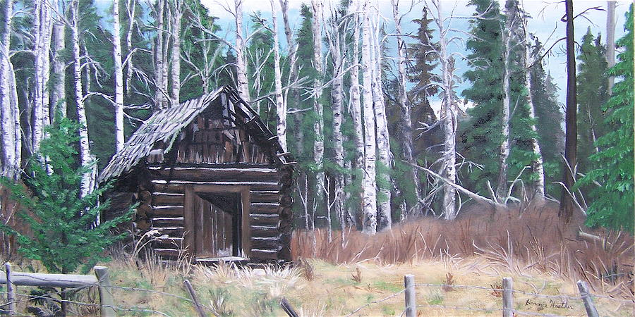 Old Cabin Painting - Solitude by Bonnie Heather