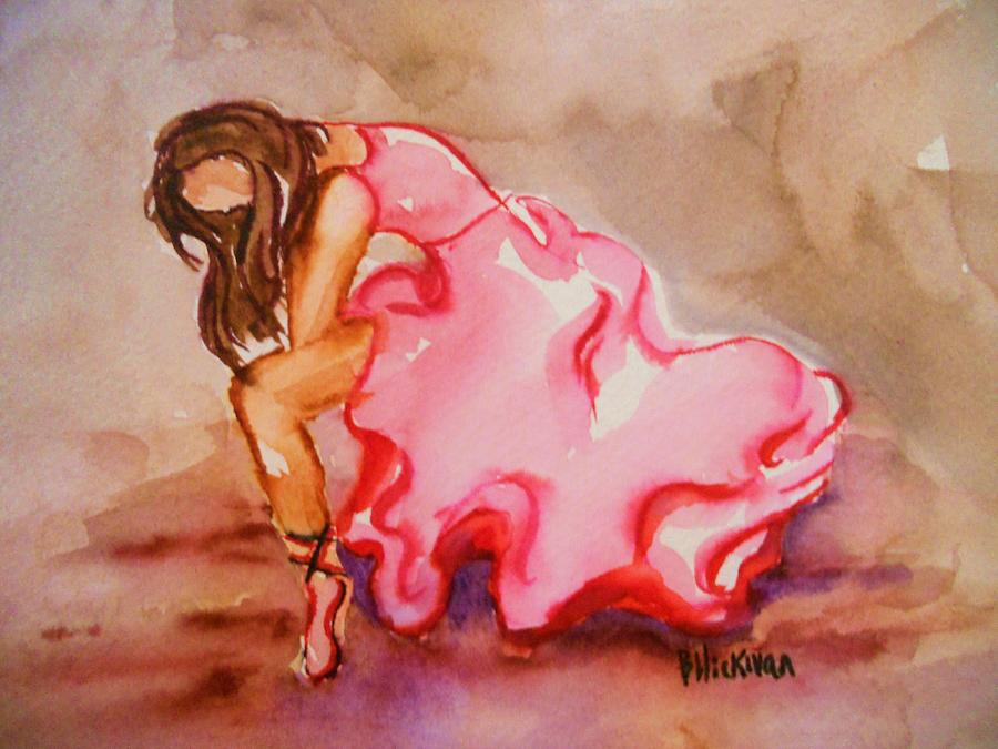 Watercolor Painting - Solitude by Brandi  Hickman