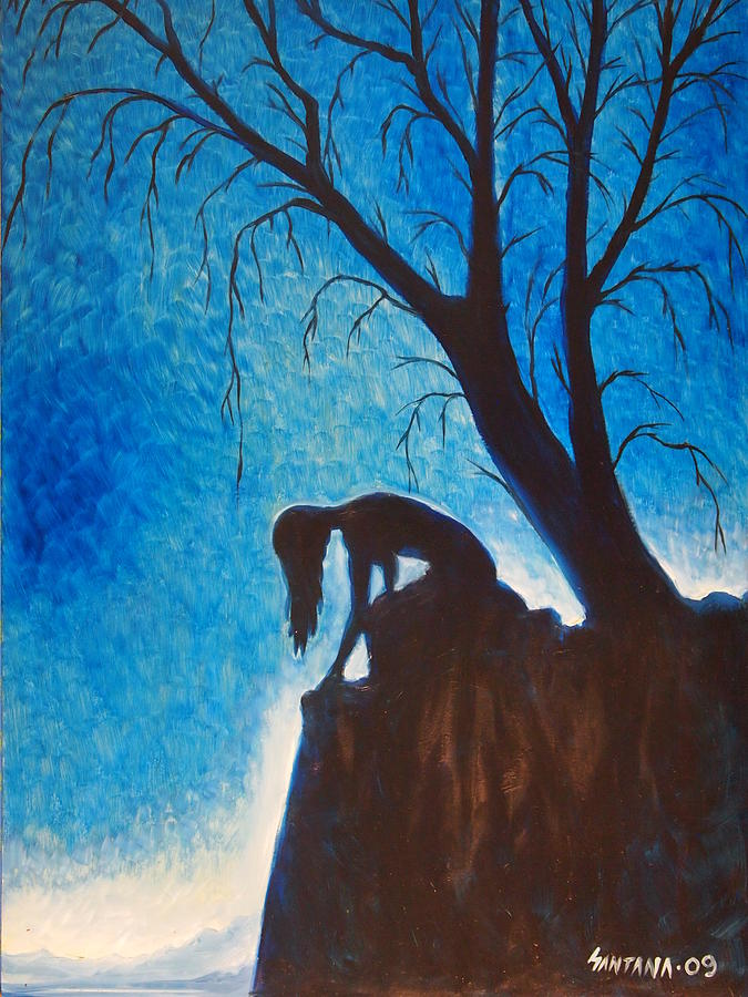 Woman Painting - Solitude by Dayna Reed